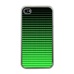 Neon Green And Black Halftone Copy Apple iPhone 4 Case (Clear)