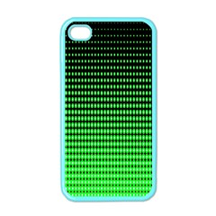 Neon Green And Black Halftone Copy Apple iPhone 4 Case (Color)