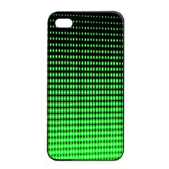 Neon Green And Black Halftone Copy Apple iPhone 4/4s Seamless Case (Black)