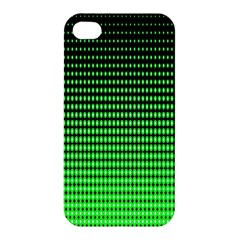 Neon Green And Black Halftone Copy Apple iPhone 4/4S Hardshell Case