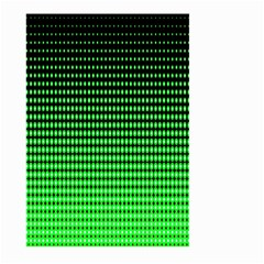 Neon Green And Black Halftone Copy Large Garden Flag (Two Sides)