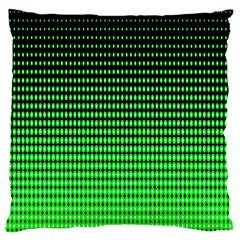 Neon Green And Black Halftone Copy Large Cushion Case (One Side)