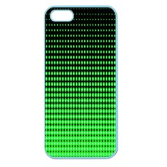 Neon Green And Black Halftone Copy Apple Seamless iPhone 5 Case (Color)