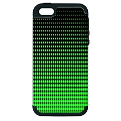 Neon Green And Black Halftone Copy Apple iPhone 5 Hardshell Case (PC+Silicone)