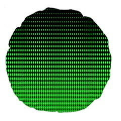 Neon Green And Black Halftone Copy Large 18  Premium Round Cushions
