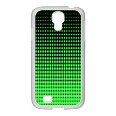 Neon Green And Black Halftone Copy Samsung GALAXY S4 I9500/ I9505 Case (White)