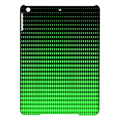 Neon Green And Black Halftone Copy iPad Air Hardshell Cases