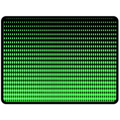 Neon Green And Black Halftone Copy Double Sided Fleece Blanket (Large)