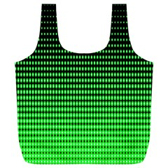 Neon Green And Black Halftone Copy Full Print Recycle Bags (L)