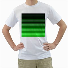 Neon Green And Black Halftone Copy Men s T-Shirt (White)