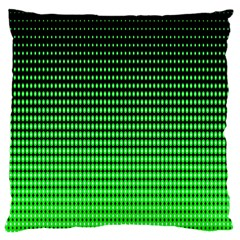 Neon Green And Black Halftone Copy Standard Flano Cushion Case (Two Sides)