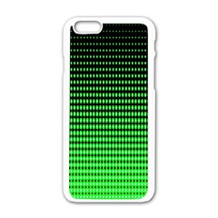 Neon Green And Black Halftone Copy Apple iPhone 6/6S White Enamel Case