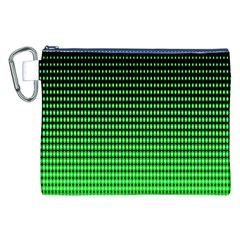 Neon Green And Black Halftone Copy Canvas Cosmetic Bag (XXL)