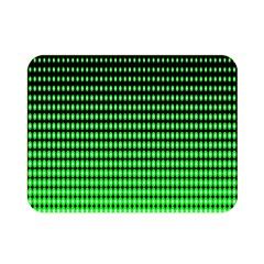 Neon Green And Black Halftone Copy Double Sided Flano Blanket (Mini)