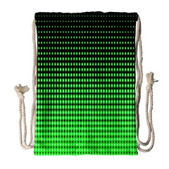 Neon Green And Black Halftone Copy Drawstring Bag (Large)