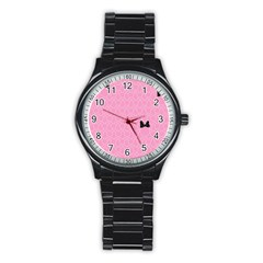 Ribbon Headbands Stainless Steel Round Watch