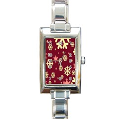 Red Resolution Version Rectangle Italian Charm Watch