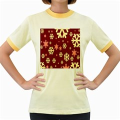 Red Resolution Version Women s Fitted Ringer T-Shirts