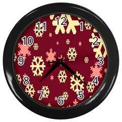 Red Resolution Version Wall Clocks (Black)