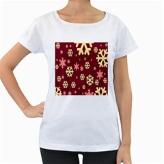 Red Resolution Version Women s Loose-Fit T-Shirt (White)