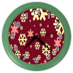 Red Resolution Version Color Wall Clocks