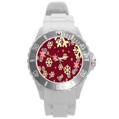 Red Resolution Version Round Plastic Sport Watch (L)