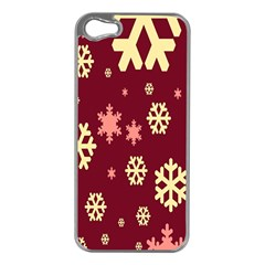 Red Resolution Version Apple iPhone 5 Case (Silver)