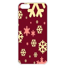 Red Resolution Version Apple iPhone 5 Seamless Case (White)