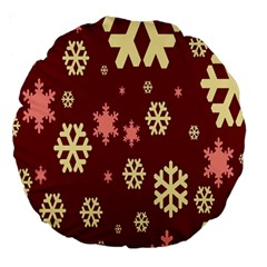 Red Resolution Version Large 18  Premium Round Cushions