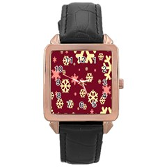 Red Resolution Version Rose Gold Leather Watch