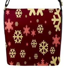 Red Resolution Version Flap Messenger Bag (S)