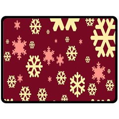 Red Resolution Version Double Sided Fleece Blanket (Large)
