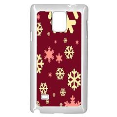 Red Resolution Version Samsung Galaxy Note 4 Case (White)
