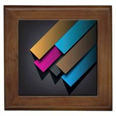 Shapes Box Brown Pink Blue Framed Tiles