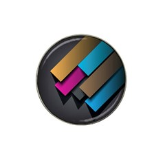 Shapes Box Brown Pink Blue Hat Clip Ball Marker (4 pack)