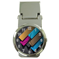 Shapes Box Brown Pink Blue Money Clip Watches