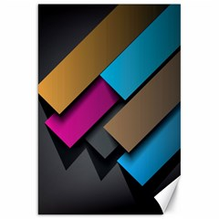 Shapes Box Brown Pink Blue Canvas 20  x 30