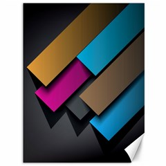 Shapes Box Brown Pink Blue Canvas 36  x 48