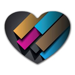 Shapes Box Brown Pink Blue Heart Mousepads