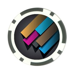 Shapes Box Brown Pink Blue Poker Chip Card Guards