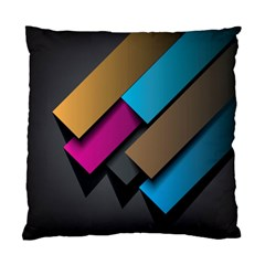 Shapes Box Brown Pink Blue Standard Cushion Case (One Side)