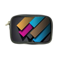 Shapes Box Brown Pink Blue Coin Purse
