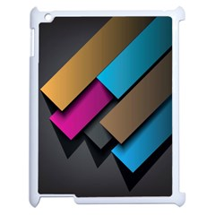 Shapes Box Brown Pink Blue Apple iPad 2 Case (White)