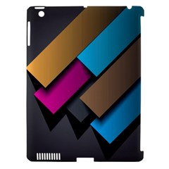 Shapes Box Brown Pink Blue Apple iPad 3/4 Hardshell Case (Compatible with Smart Cover)
