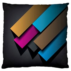Shapes Box Brown Pink Blue Large Cushion Case (Two Sides)