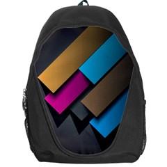Shapes Box Brown Pink Blue Backpack Bag