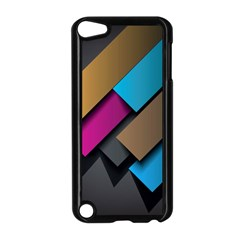 Shapes Box Brown Pink Blue Apple iPod Touch 5 Case (Black)