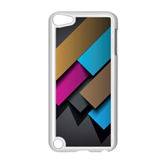 Shapes Box Brown Pink Blue Apple iPod Touch 5 Case (White)