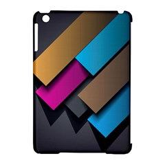 Shapes Box Brown Pink Blue Apple iPad Mini Hardshell Case (Compatible with Smart Cover)