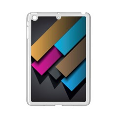 Shapes Box Brown Pink Blue iPad Mini 2 Enamel Coated Cases